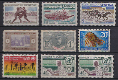 Senegal small selection of used & mounted mint stamps x 9