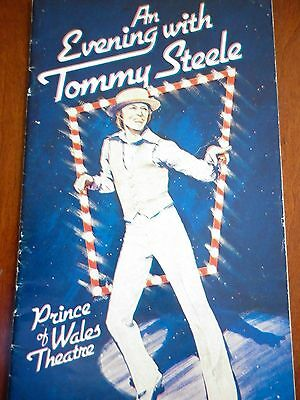 An Evening With Tommy Steele - Vintage Theatre Programme - 1980