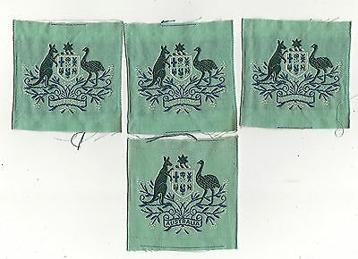 WOMENS ROYAL AUSTRALIAN ARMY CORPS WO1 PATCHES 1970'S - 80'S  ( x4 )