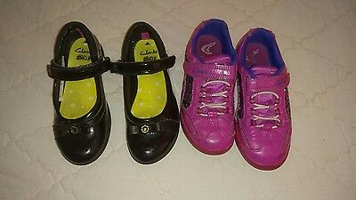 girls clarks shoes size 10.5f