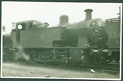 LMS 0-6-0T No. 7104 'at Derby, 1938'. Real Photograph PC - unknown publisher