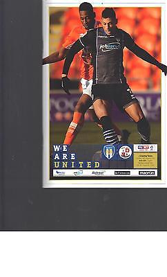PROGRAMME - COLCHESTER UNITED v CRAWLEY TOWN - 14 FEBRUARY 2017