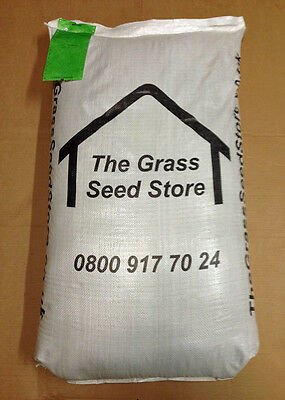 25 Kg QUALITY HARD WEARING LAWN SEED Garden Grass Seed. Light Loam to Clay Soil