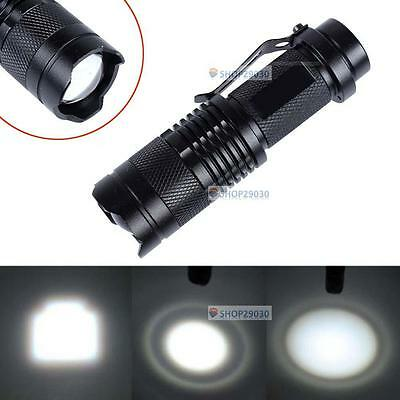 CREE T6 LED Mini Flashlight 14500 AA Focus Torch 2000LM Zoomable Lamp Light SP