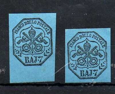 2 Early Franco Bollo Stamps.