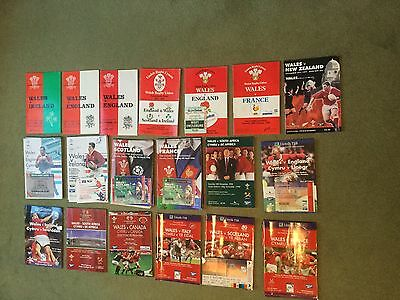 A collection of  38 Wales International Rugby Football Union Programmes.