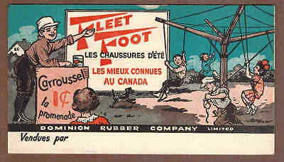 DOMINION RUBBER COMPANY, FLEET FOOT, QUEBEC: Scarce CANADIAN Ink Blotter (1930)