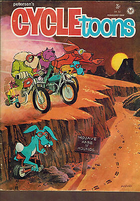 Petersen's CYCLEtoons Magazine, Motorcycle Humour,  February 1968 Edition