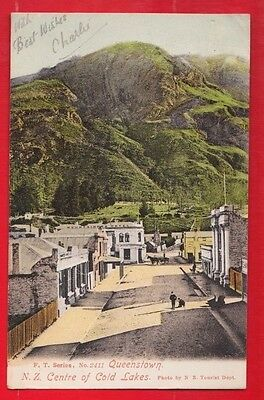 New Zealand, Queenstown N.Z. Centre of cold lakes,  Postcard