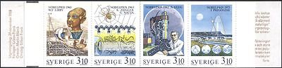 Sweden 1988 Nobel Prize Winners/Chemistry/Science/Horses/Spider 8v bklt (s153)