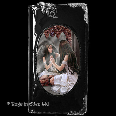 MAGICAL MIRROR 3D Lenticular Gothic Angel Art PVC Purse / Wallet By Anne Stokes