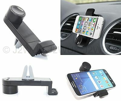 Slim Mobile Phone Car Air Vent Mount Holder Cradle Stand For iPhone Samsung