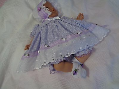"""DOLLYDUMPLING Handmade dolls clothes for REBORN BABY/Annabell or any 16""""doll"""