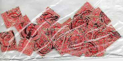 GB Edward V11  50 x Fine Used SG 219  1d reds  as scan