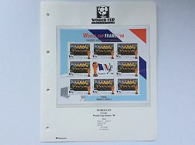 Block Of 9 X Brazil World Cup Football Championship, France.  1998.