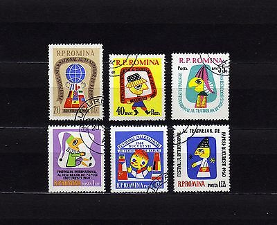 Romania #1375-1380 Used International Puppet Theater Festival