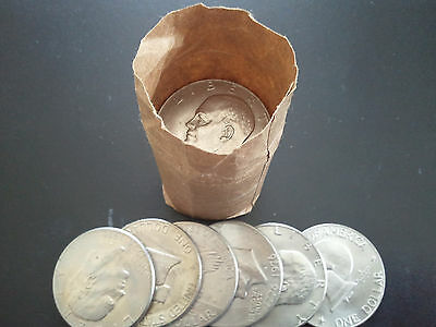 Lot Of 20 (1 Roll) Eisenhower Dollar - Nice Circulated Condition