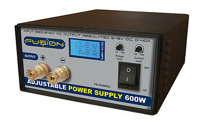 Fusion 600W Adjustable 40A Power Supply #PS600ADJ