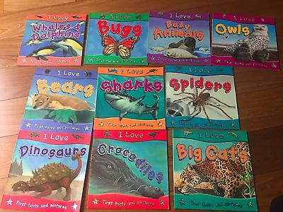 I Love Animal book (Collection of 10 Books)