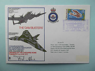 Dam Busters 617 Squadron signed Cover to RAF Scampton 1972, Cheshire Home