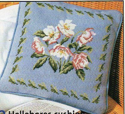 Needlepoint/ Tapestry chart. Hellebores cushion from Stitchery designs.