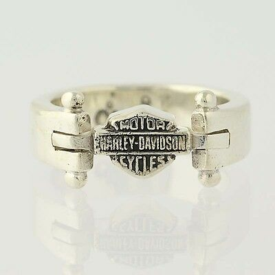 Authentic Harley-Davidson Ring - Sterling Silver Motorcycles Men's