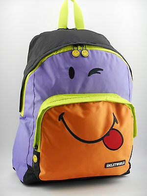 Zaino scuola americano Smiley World 53148 viola-arancio