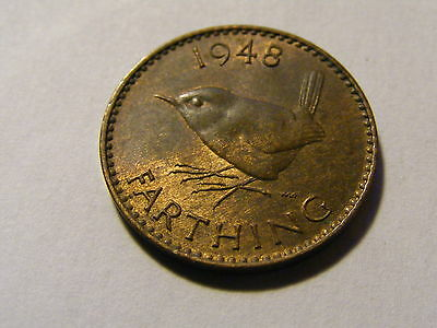 1948 George VI Farthing Coin  - Much Luster -