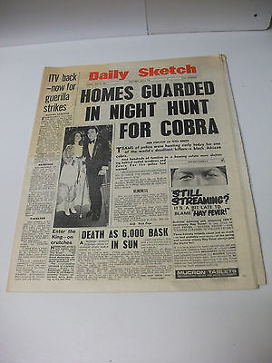 Vintage Complete 1960s Space Newspaper ~  Daily Sketch 15th July 1969