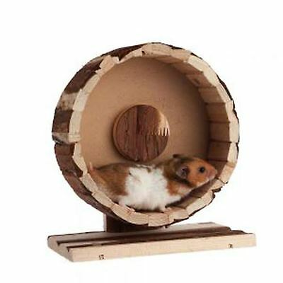 Small Animal Natural Rustic  Wooden  Exercise Wheel Hamster Gerbil  Mouse