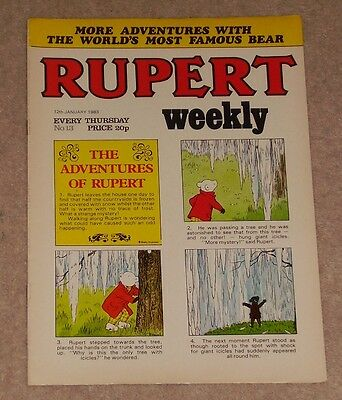 RUPERT BEAR WEEKLY COMIC NO. 13 DATED 12th JANUARY 1983
