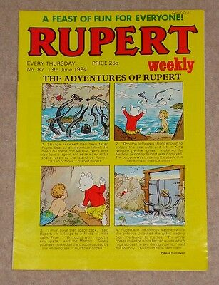 RUPERT BEAR WEEKLY COMIC NO.87 DATED 13th JUNE 1984