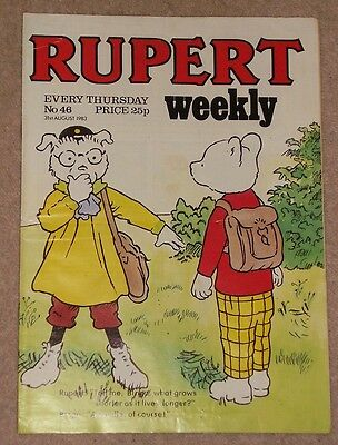 RUPERT BEAR WEEKLY COMIC NO. 46 DATED 31st AUGUST 1983