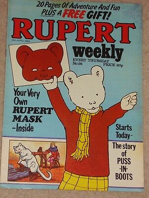 RUPERT BEAR WEEKLY COMIC NO. 26 DATED 13th APRIL 1983