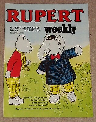 RUPERT BEAR WEEKLY COMIC NO. 48 DATED 14th SEPTEMBER 1983