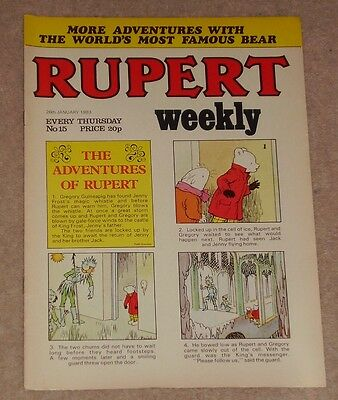RUPERT BEAR WEEKLY COMIC NO. 15 DATED 26th JANUARY 1983