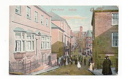 Old Postcard Fore Street Redruth Cornwall Pm 1905