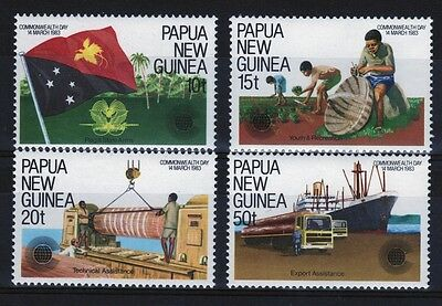 Papua New Guinea set of stamps to celebrate Commonwealth Day.