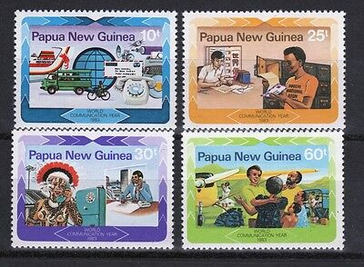 Papua New Guinea set of stamps to celebrate World Communications Year.