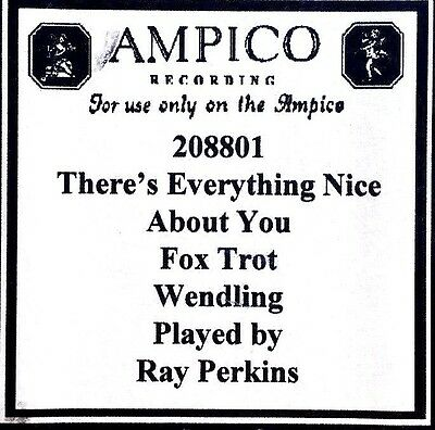 AMPICO (ReCut) There's Everything Nice About You 208801 Player Piano Roll