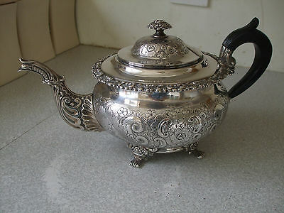 Lovely Antique   Silver Plated Chinese Dragon Spout Style  Teapot- W Hutton 1850