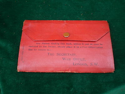 Ww 1 Discharge And Pay Documents In Military Wallet