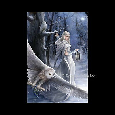 *MIDNIGHT MESSENGER* Fantasy Angel Art 3D Postcard By Anne Stokes (15x10cm)