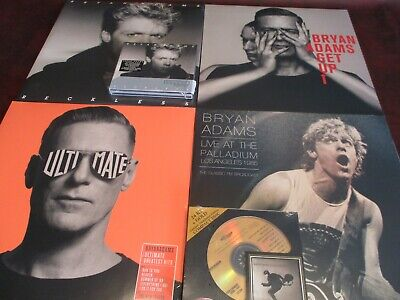 Bryan Adams Deluxe Reckless-Neighbours-Get Up 5Lps + 24 Karat Gold & Deluxe Cds