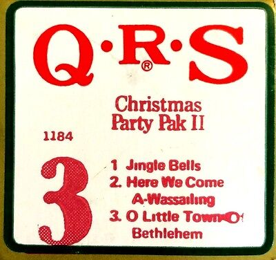 QRS 3-Song Holiday Roll CHRISTMAS PARTY PAK II Roll 3 Player Piano Roll 80041-3