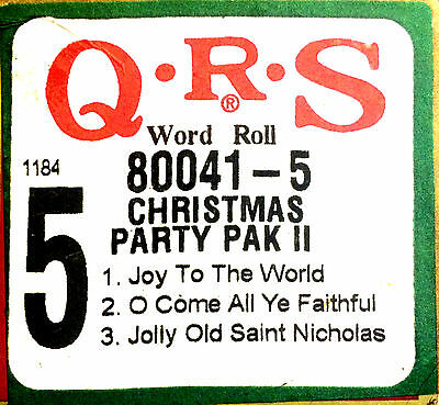 QRS 3-Song Holiday Roll CHRISTMAS PARTY PAK II Roll 5 Player Piano Roll 80041-5