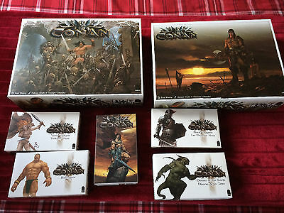 Conan By Monolith Games - Kickstarter Exclusive Models And Add-Ons - Used