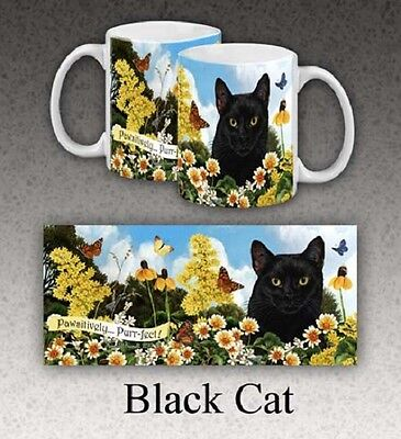 11 oz. Stoneware Mug - Black Cat GPM501