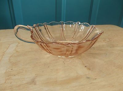 Anchor Hocking Oyster and Pearl Pink Depression Glass Heart Shaped Dish
