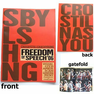 Crosby Stills Nash & Young Freedom 2006 Tour Book New